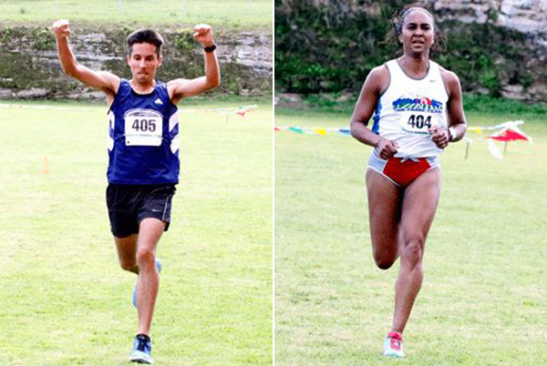 Soon to be married couple Jose Miranda and Tamika Williams are the 2015 Sir Stanley Burgess 5K Male and Female Champions