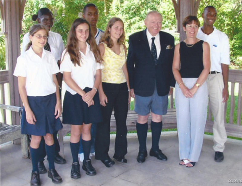 Student prize presentation in 2004 with Honorary French Consul in Bermuda
