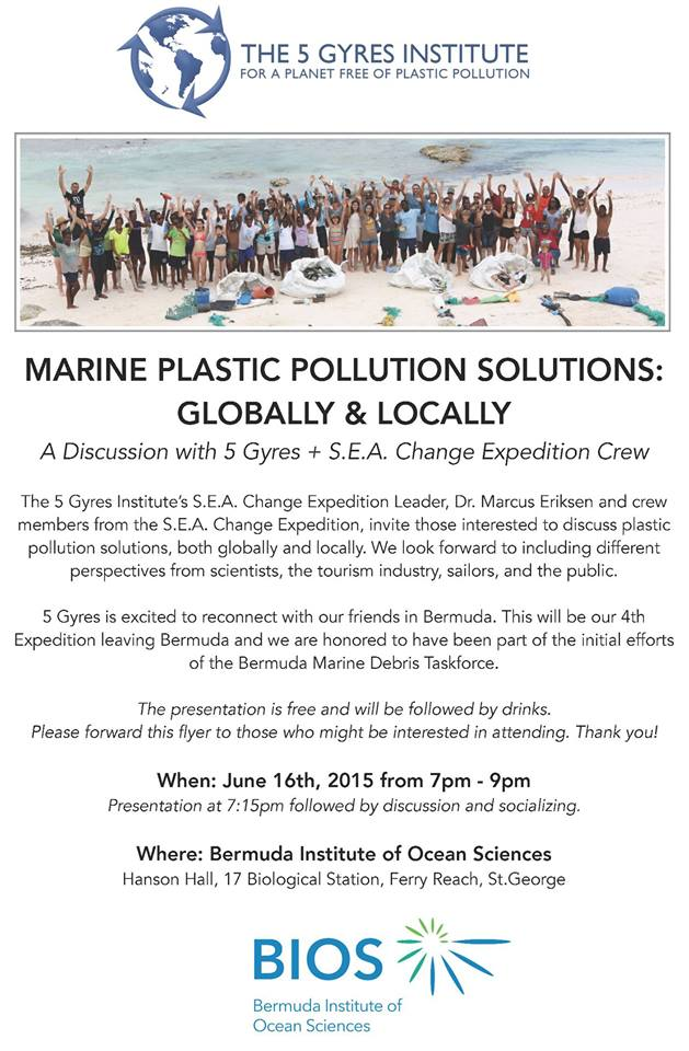 5 Gyres Discussion at BIOS on June 16