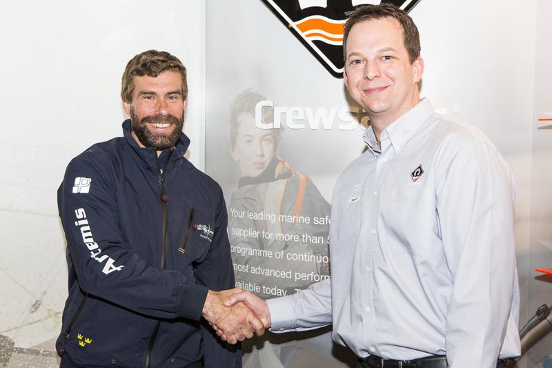 Iain Percy (Artemis Racing) and Ross Wilkinson (Crewsaver)