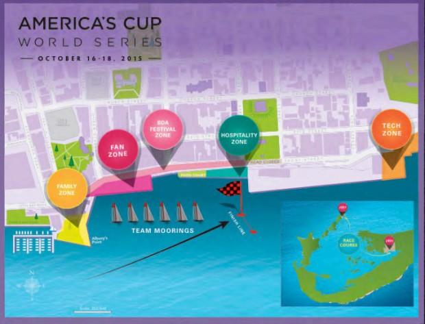 americas cup map hamilton
