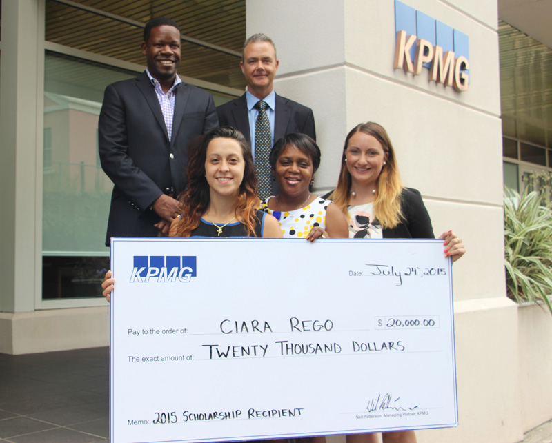 Ciara Rego Earns KPMG 2015 Scholarship Award