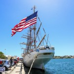 US Coast Guard Tall Ship Eagle In Bermuda, July 4 2015-43