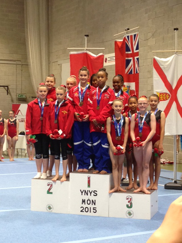 gymnastics Jr Girls gold July 24 2015