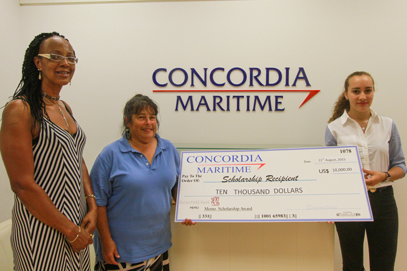 2015 Concordia Maritime Scholarship Recipients
