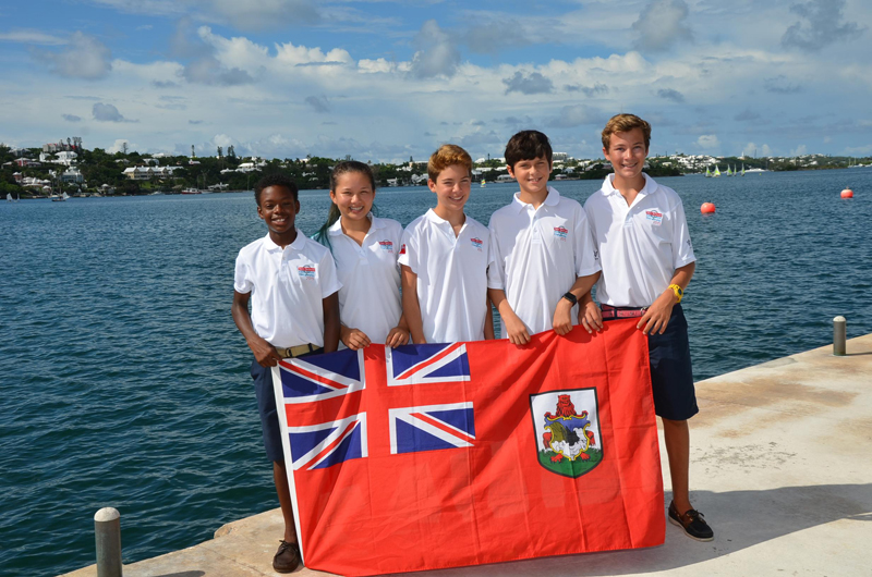 Bermuda optimist Sailing Team August 21 2015 2