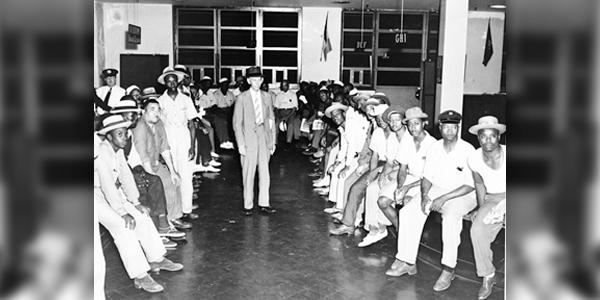 Captain Lewis P Borum with members