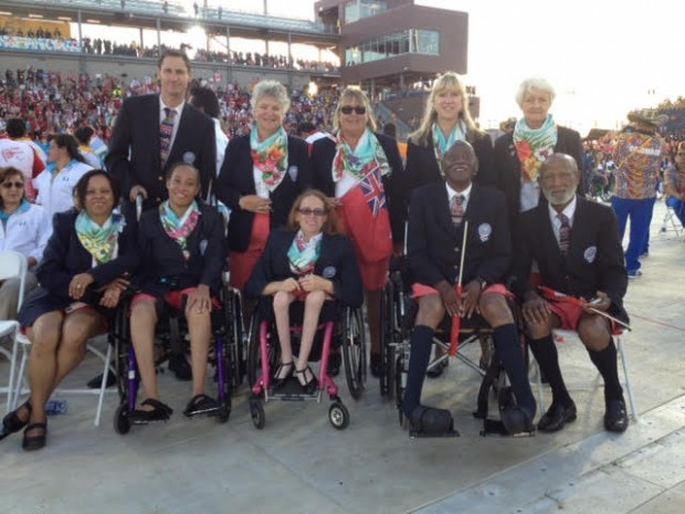 Our team at the opening ceremony