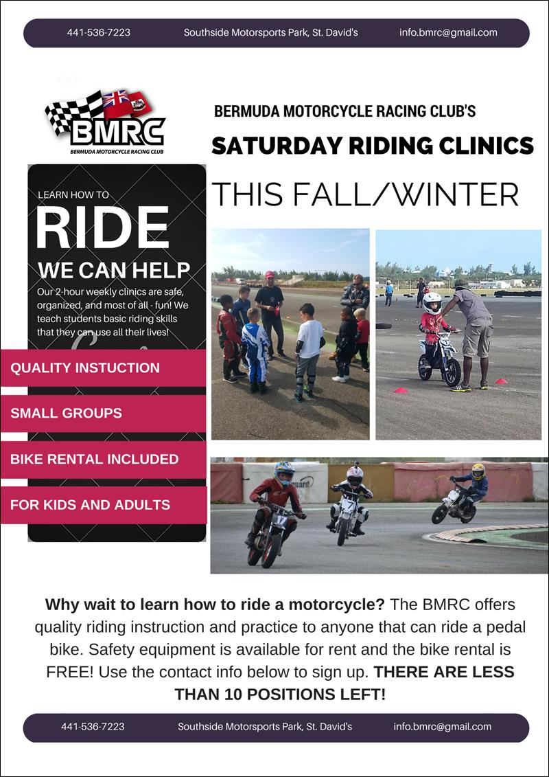 BMRC Saturday Riding Clinic This Fall winter Bermuda September 2015 2