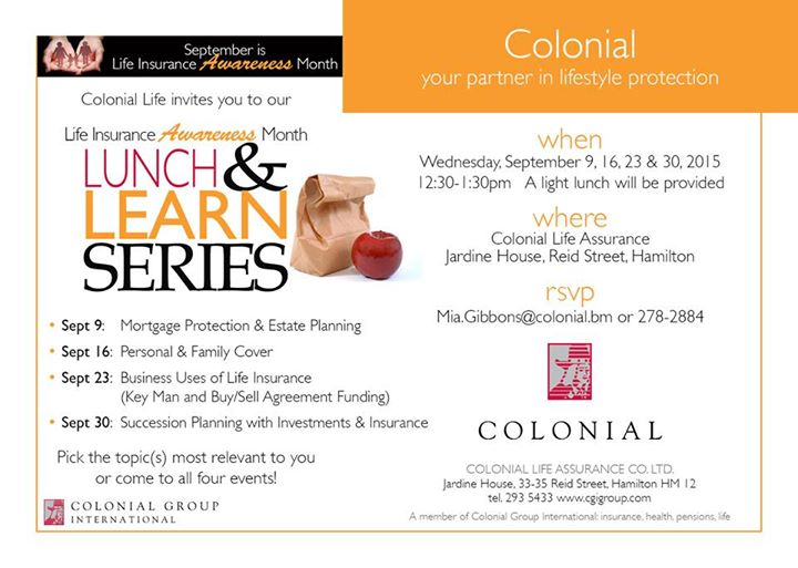 Colonial events sept 2 2015