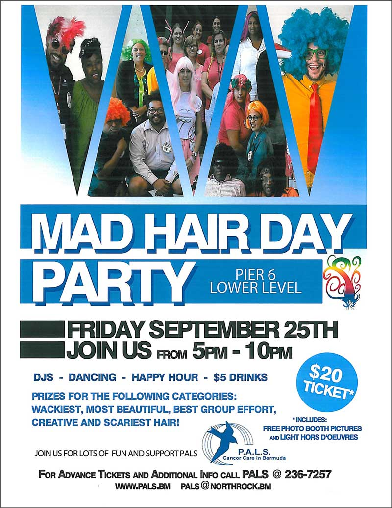 Mad hair Day Party 21 Sept 2015