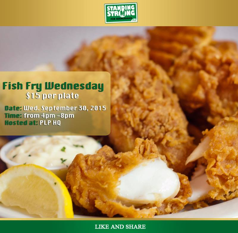 Plp to hold fish fry on september 30th bernews for Alaska fish and chicken menu