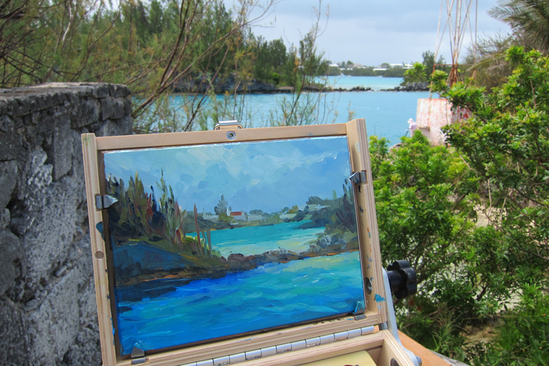 Plein Air exhibition Bermuda September 2015 1