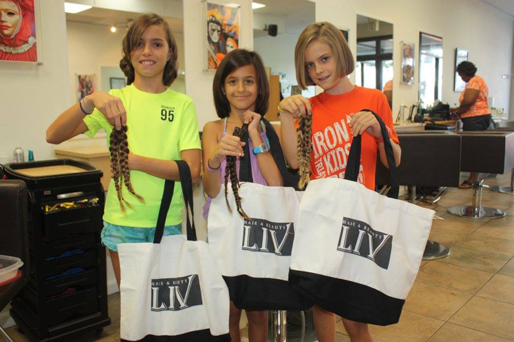 Ava Gabai-Maiato, Zoe Hasselkuss and Jasmin Hasselkuss at Liv hair salon (4)