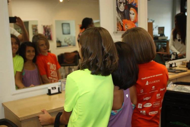 Ava Gabai-Maiato, Zoe Hasselkuss and Jasmin Hasselkuss at Liv hair salon (5)