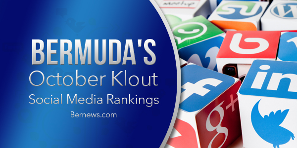 Bermuda Klout October rankings card
