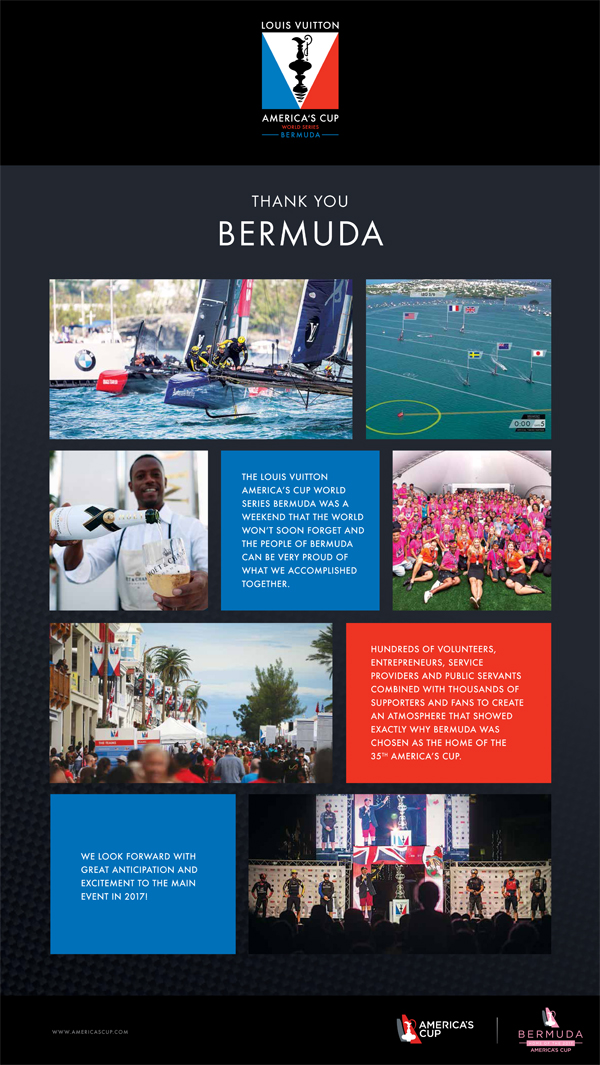Bernews Thank You October 2015 Americas Cup