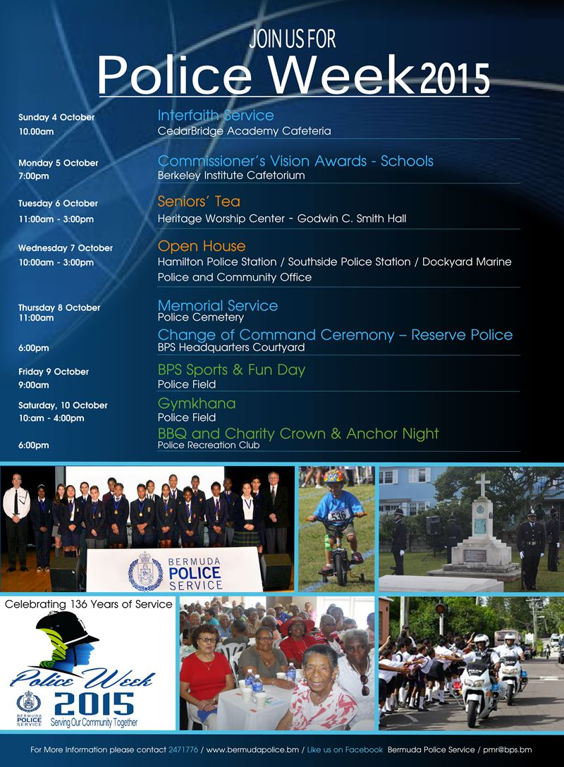 Police Week Calender to Service
