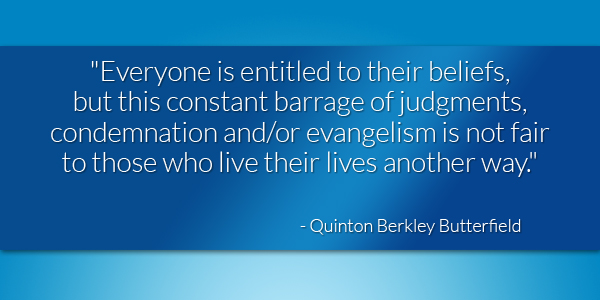 Quinton Berkley Butterfield quote Oct 2015