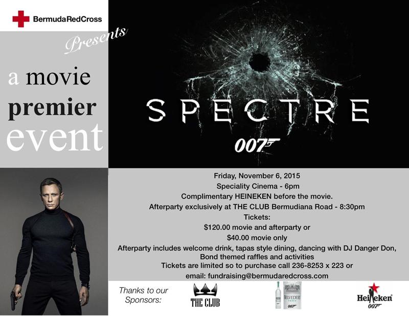 Spectre Movie Bermuda October 2015