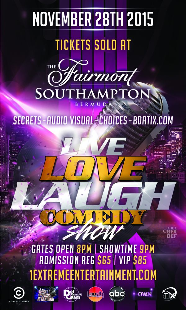 """Live Love Laugh"" Comedy Show Bermuda Nov 28 2015 (2)"