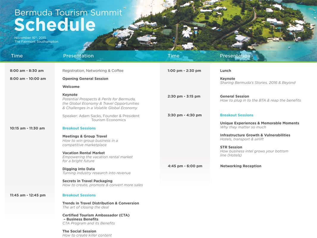 BTA TOURISM SUMMIT_Schedule_November 16 2015_v2