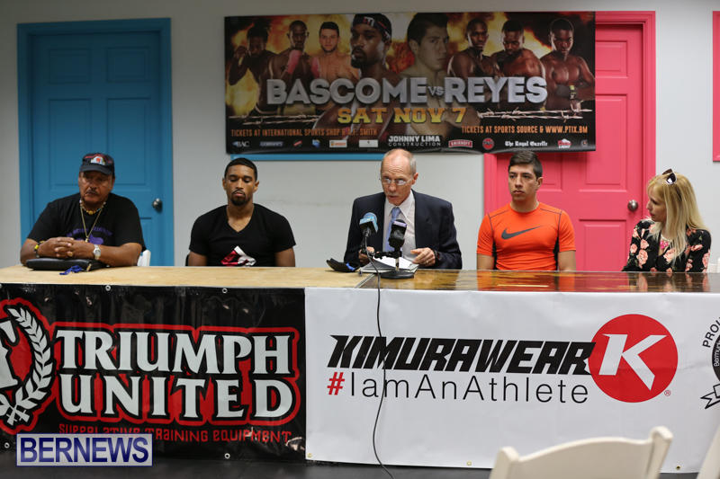 Bascome vs Reyes Fight Weigh In Bermuda, November 6 2015-1