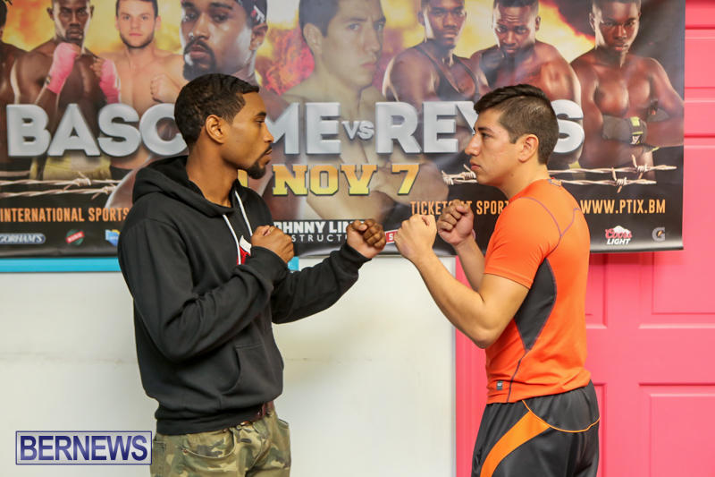 Bascome vs Reyes Fight Weigh In Bermuda, November 6 2015-3