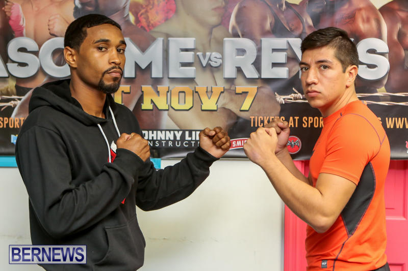 Bascome vs Reyes Fight Weigh In Bermuda, November 6 2015-4