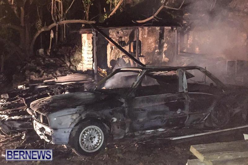 Car Shed Fire Bermuda, November 17 2015-6