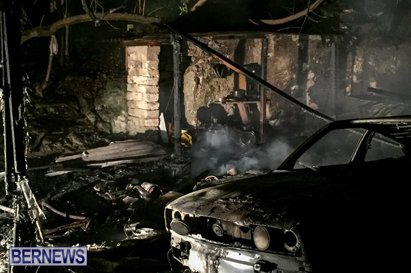 Car Shed Fire Bermuda, November 17 2015-7