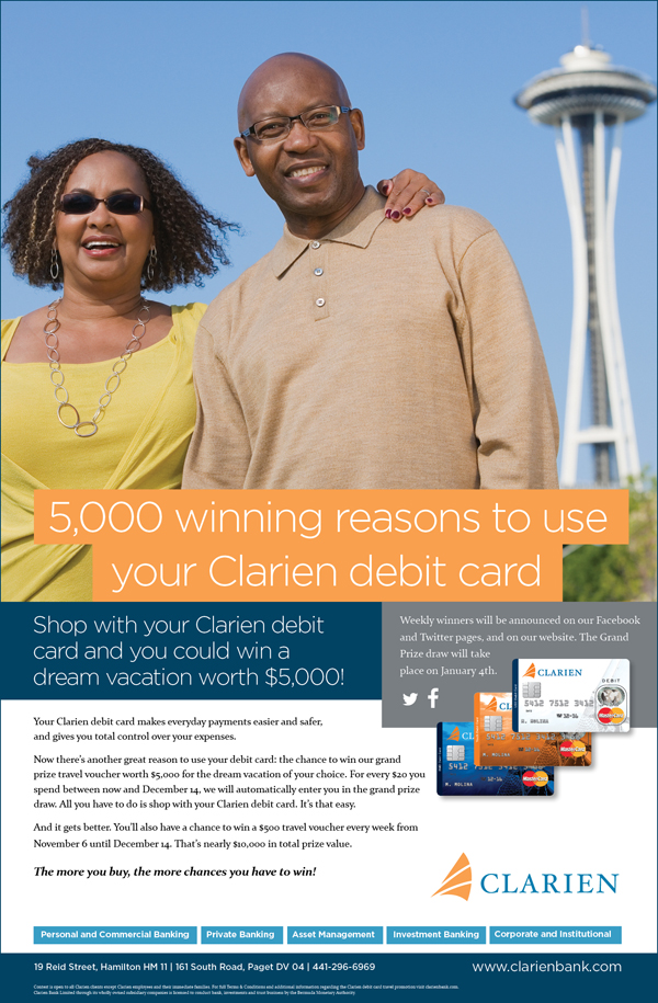 Clarien-5000 winning reasons Bermuda November 2015