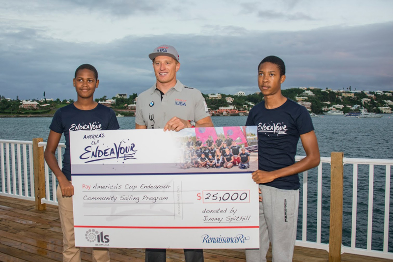 Jimmy Spithill - Endeavour Donation Bermuda Nov 17 2015