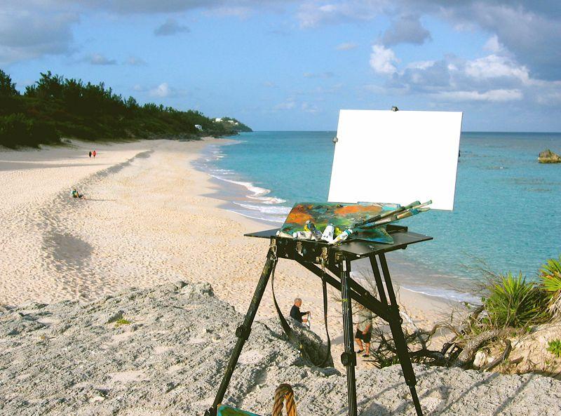 Plein Air_on the beach Bermuda November 2015