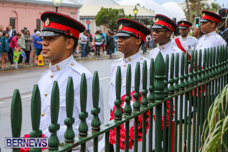 Remembrance-Day-Front-Street-Bermuda-November-11-2015-1