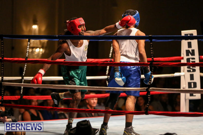 Robert King Somner vs Di'Andre Burgess Boxing Match Bermuda, November 7 2015-1