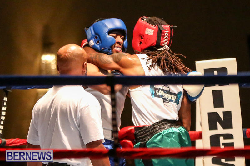 Robert King Somner vs Di'Andre Burgess Boxing Match Bermuda, November 7 2015-10