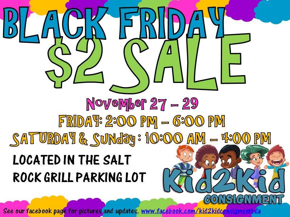 Sale kid2kid Bermuda Nov 24 2015