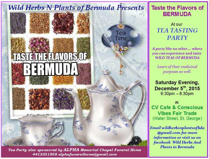 Tea tasting flyer - venue