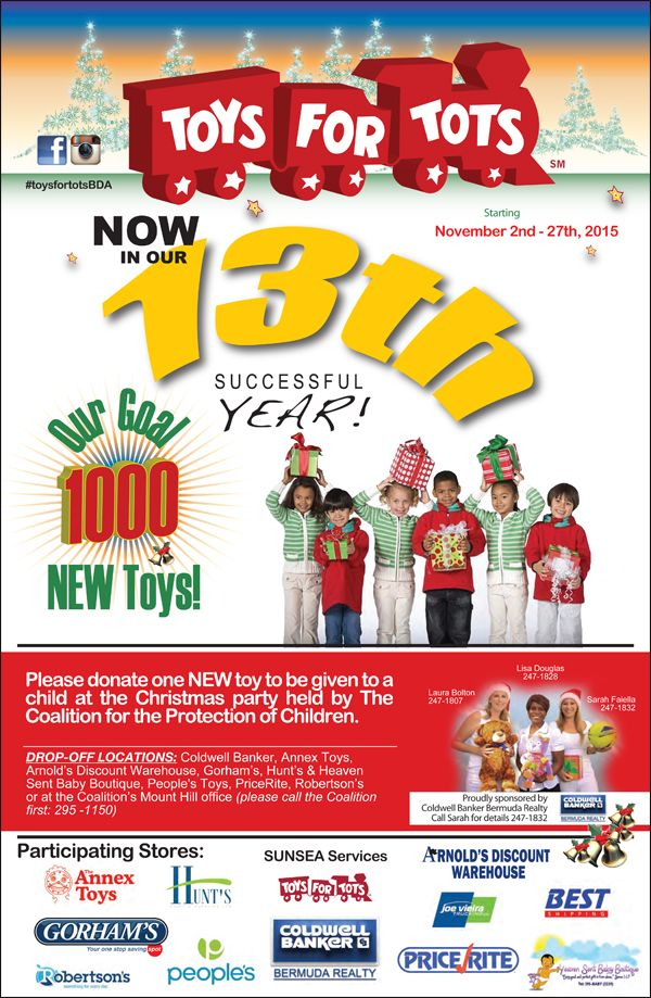 Toys For Tots Campaign : Quot toys for tots christmas campaign launches bernews