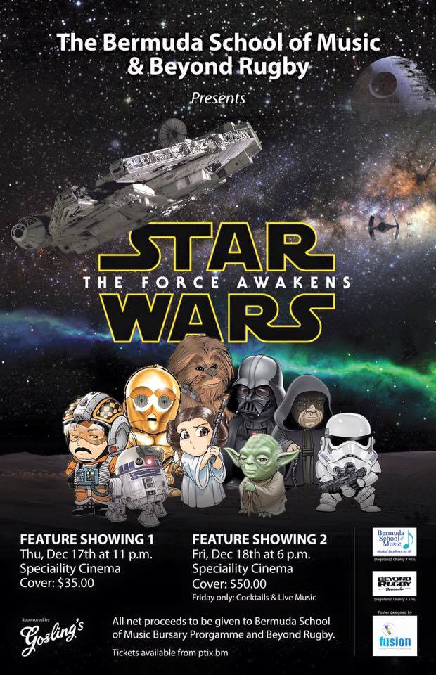 Stars Wars movie Bermuda Dec 12 2015