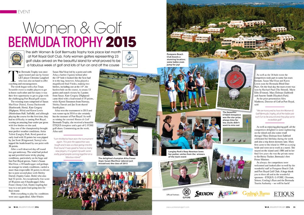 Woman and Golf Bermuda Trophy 2015