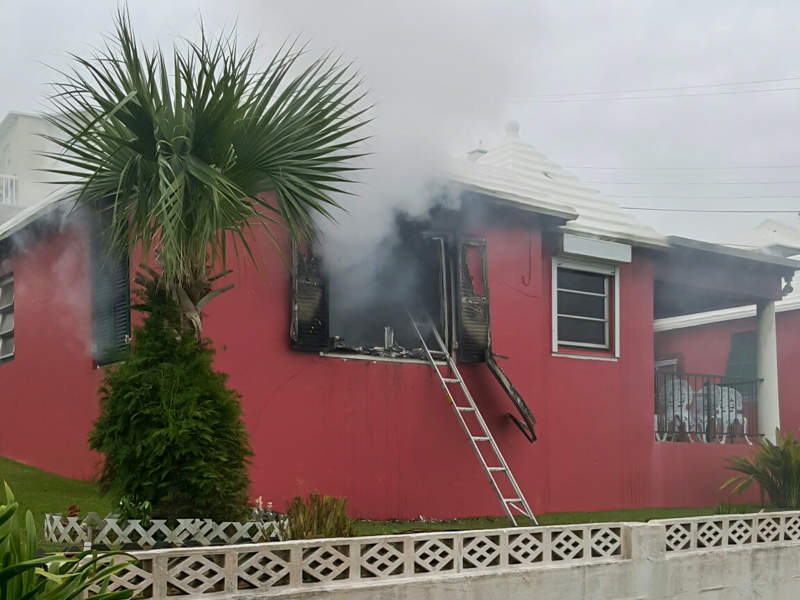 House Fire Bermuda, January 6 2016-1