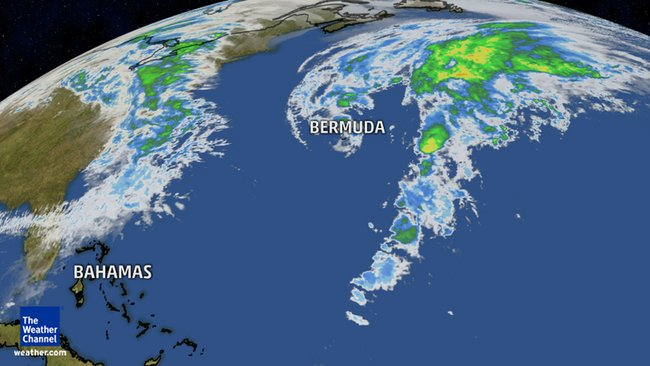 low pressure off the East Coast Bermuda Jan 8 2016