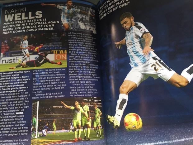 nahki wells huddersfield programme jan 2016