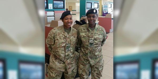 Lance Corporal Leeann Tucker and Corporal Zelipha Gitari Bermuda Feb 7 2016
