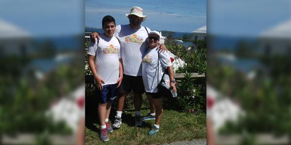 Maria Pichery with her son Matthew and husband Nigel Bermuda Feb 10 2016
