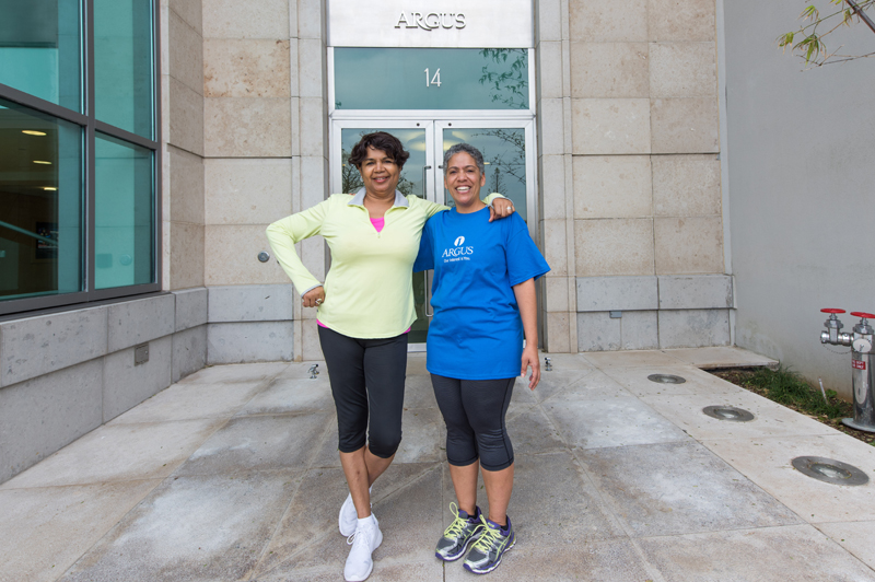 Michelle Jackson from Argus and Elaine Butterfield Bermuda Feb 11 2016