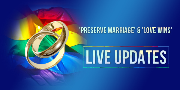 'Preserve Marriage' & 'Love Wins' Demonstrations TC 3ba