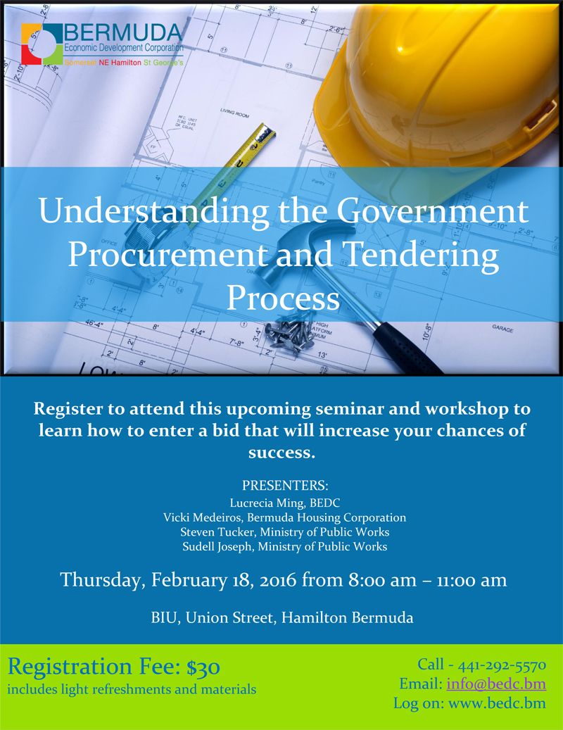 Seminar: Understanding Govt Tendering Process - Bernews